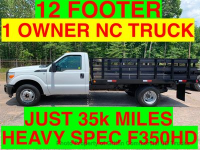 2011 Ford F350HD JUST 35k MILES 12 FOOT STAKE BODY ONE OWNER NC TRUCK HEAVY SPEC 13,300 GVW