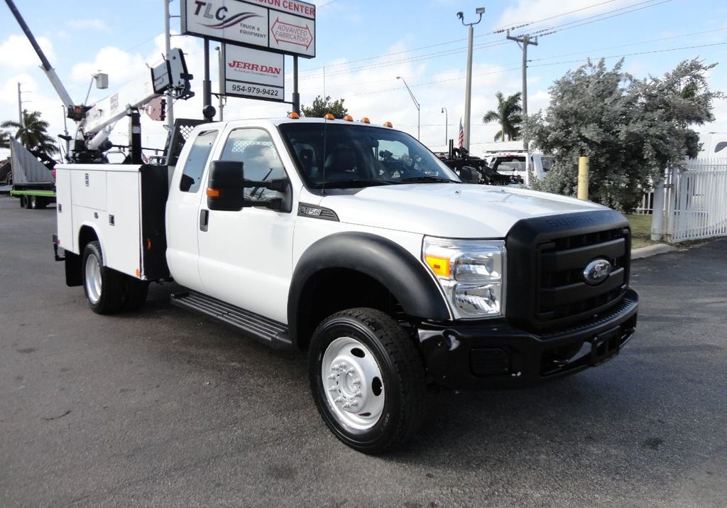 2011 Ford F450 4X4 11FT UTILITY TRUCK BED WITH 16FT 4,000LB CRANE - 17366759 - 0