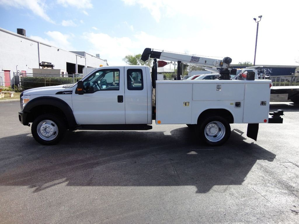 2011 Ford F450 4X4 11FT UTILITY TRUCK BED WITH 16FT 4,000LB CRANE - 17366759 - 9