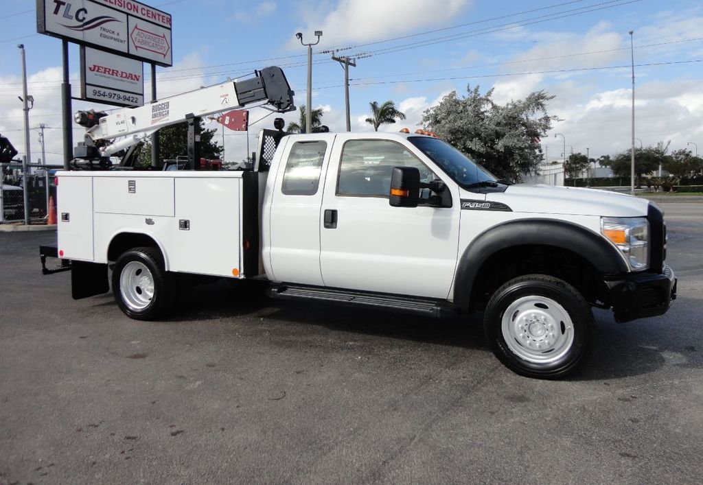 2011 Ford F450 4X4 11FT UTILITY TRUCK BED WITH 16FT 4,000LB CRANE - 17366759 - 4