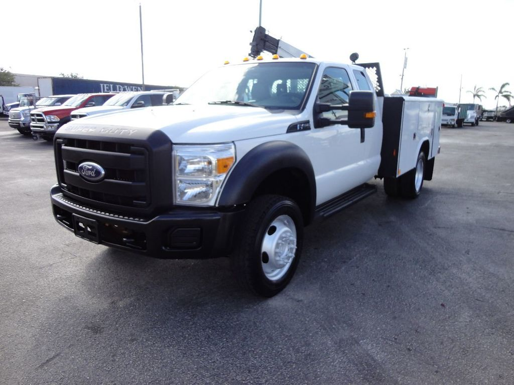 2011 Ford F450 4X4 11FT UTILITY TRUCK BED WITH 16FT 4,000LB CRANE - 17368049 - 0