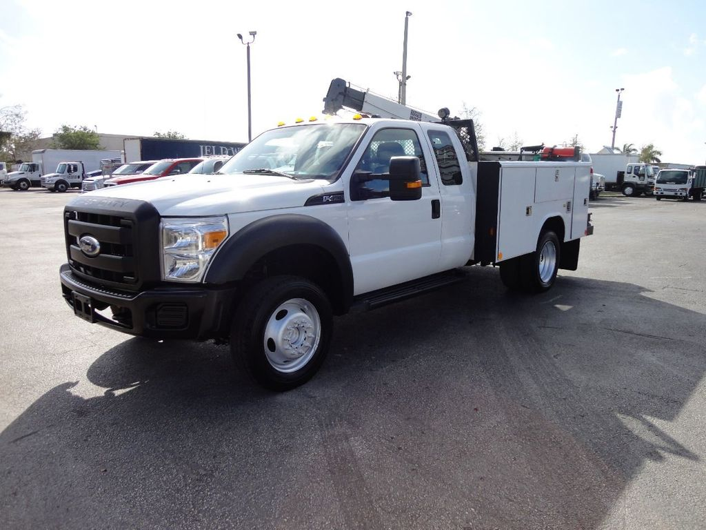 2011 Ford F450 4X4 11FT UTILITY TRUCK BED WITH 16FT 4,000LB CRANE - 17368049 - 1