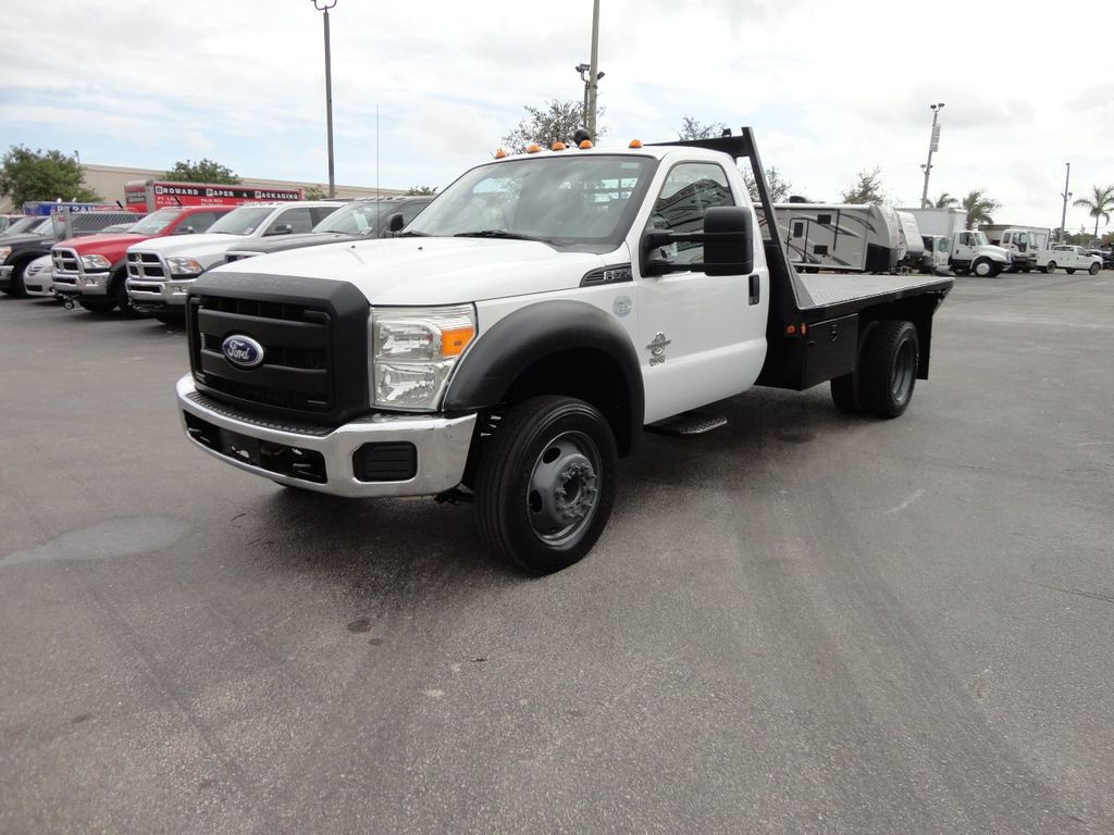 2011 Ford F550 ..4X2..12FT STEEL FLATBED WITH 5TH WHEEL. - 17267998 - 0