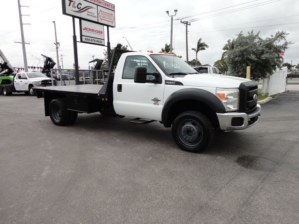 2011 Ford F550 ..4X2..12FT STEEL FLATBED WITH 5TH WHEEL. - 17267998 - 9
