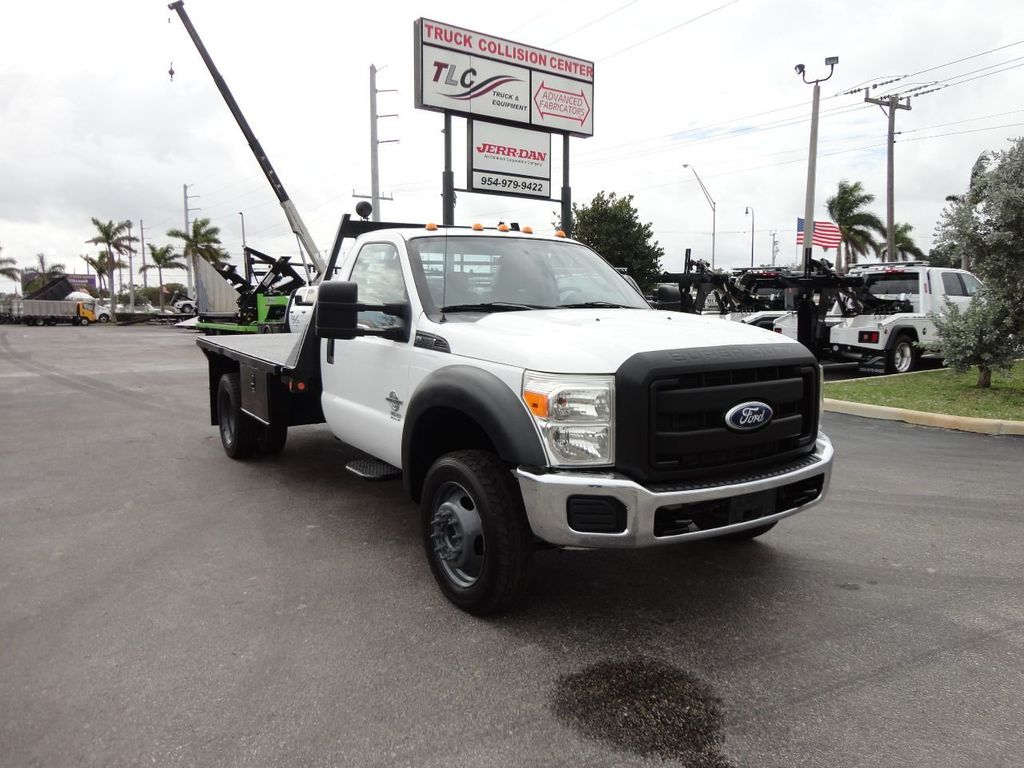 2011 Ford F550 ..4X2..12FT STEEL FLATBED WITH 5TH WHEEL. - 17267998 - 10
