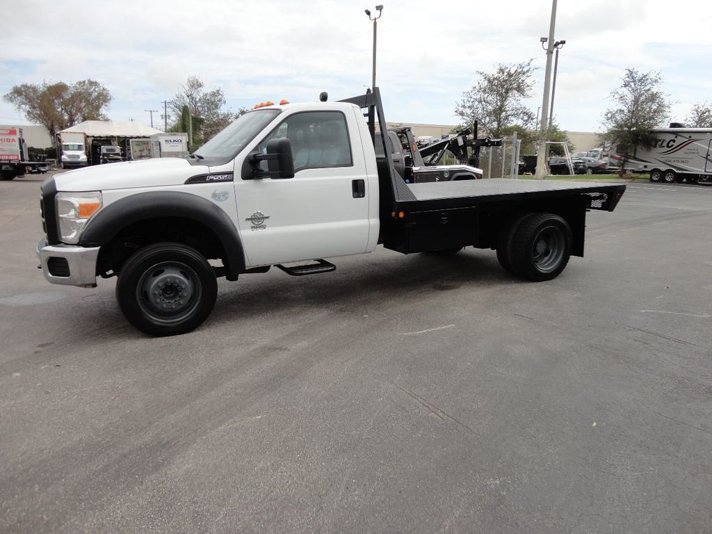2011 Ford F550 ..4X2..12FT STEEL FLATBED WITH 5TH WHEEL. - 17267998 - 1