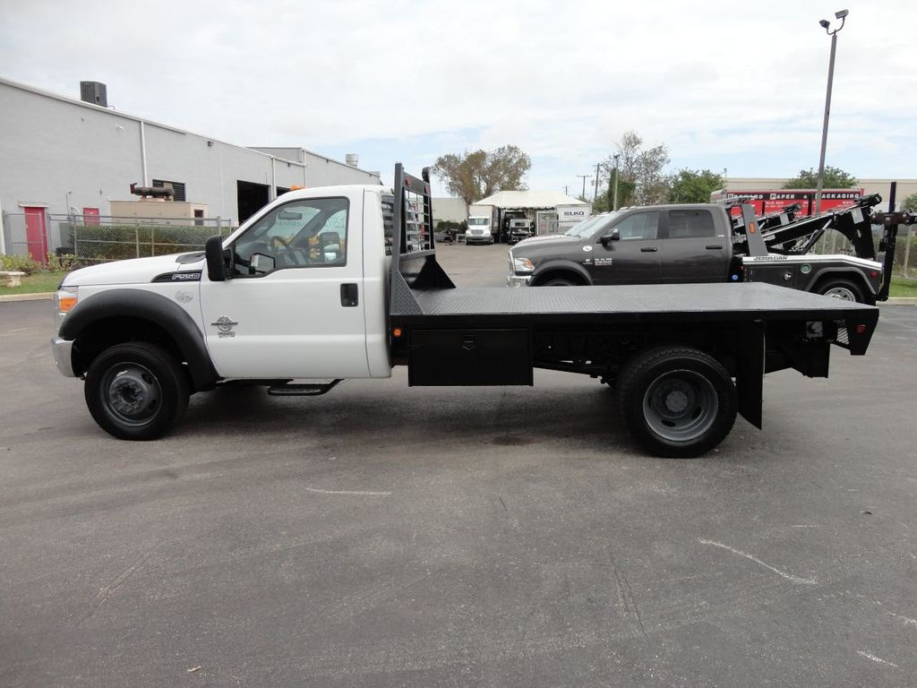 2011 Ford F550 ..4X2..12FT STEEL FLATBED WITH 5TH WHEEL. - 17267998 - 2