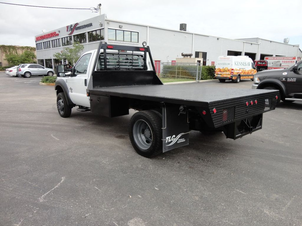 2011 Ford F550 ..4X2..12FT STEEL FLATBED WITH 5TH WHEEL. - 17267998 - 3