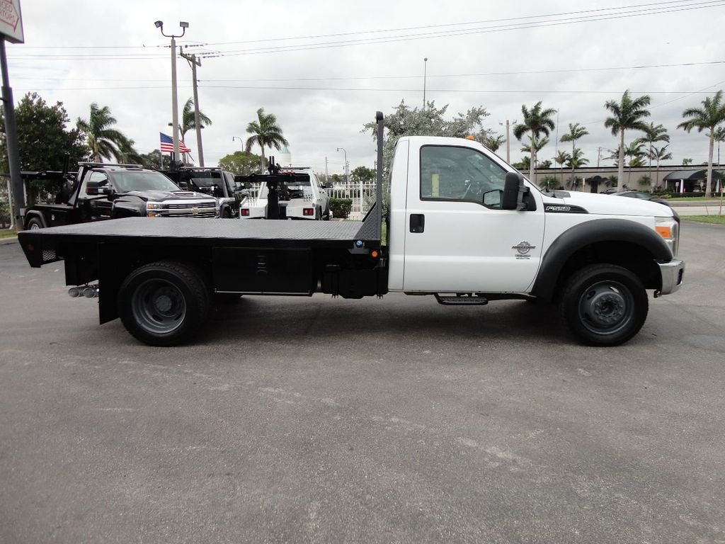 2011 Ford F550 ..4X2..12FT STEEL FLATBED WITH 5TH WHEEL. - 17267998 - 8