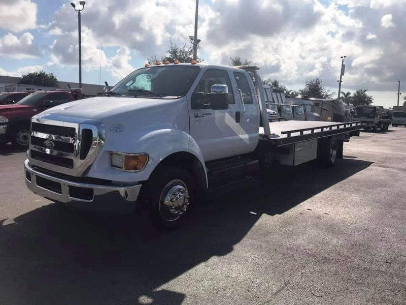 2011 Ford F650 21.1FT CHEVRON ROLLBACK TOW TRUCK.. AIR RIDE AIR BRAKES - 18340795 - 0