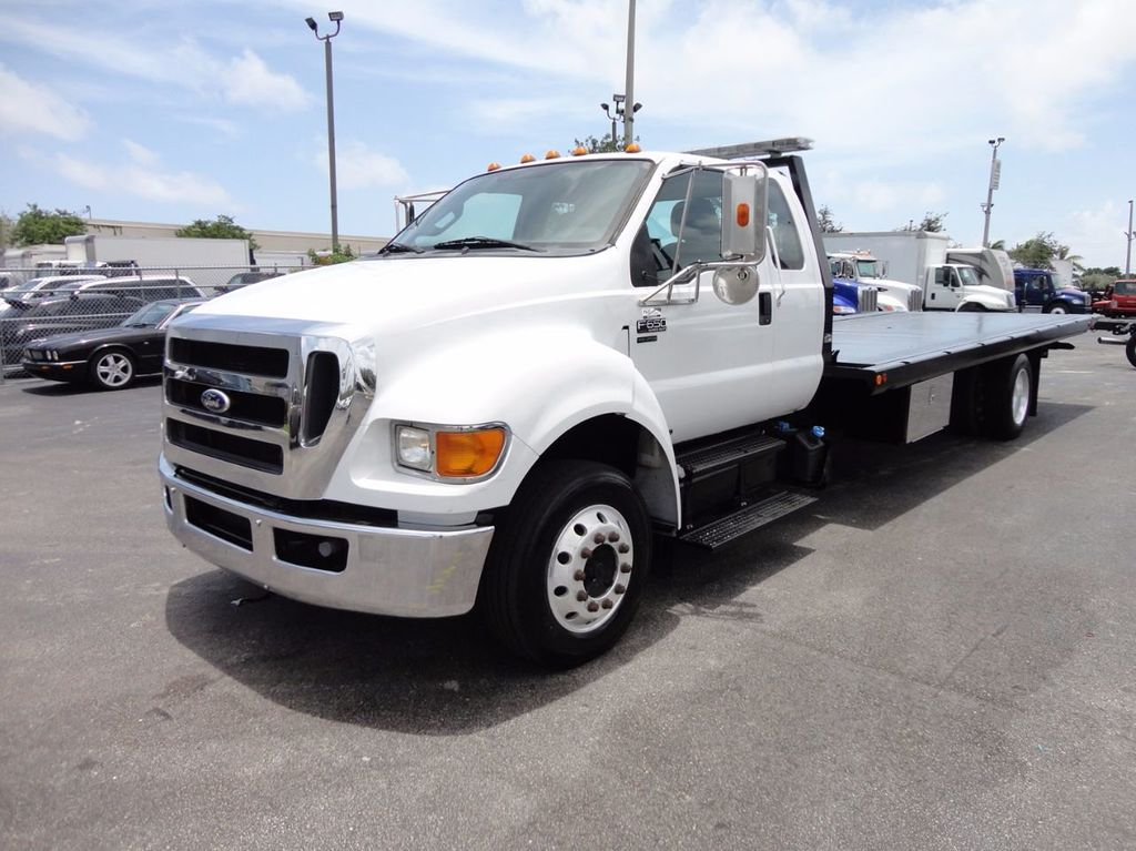 2011 Ford F650 XLT*SUPER CAB* AIR RIDE SUS* 21FT DUAL TECH ROLLBACK** - 16535386 - 0