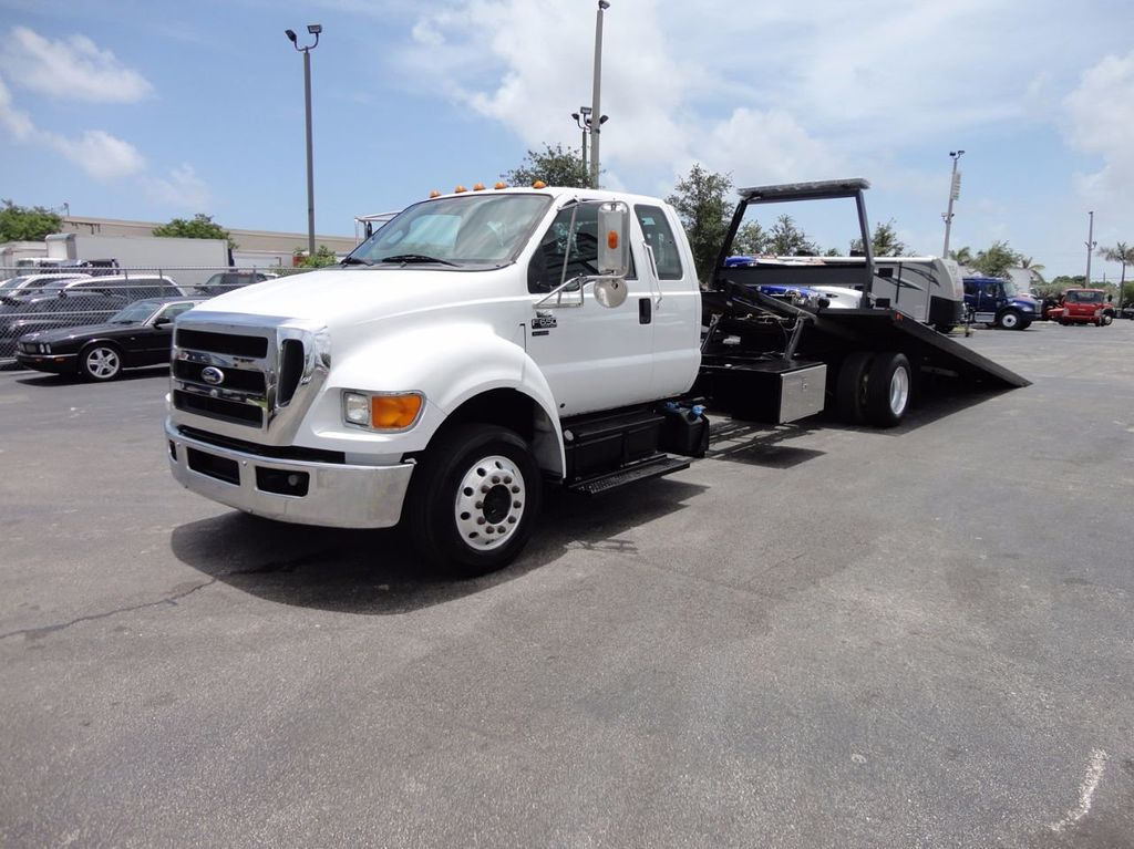 2011 Ford F650 XLT*SUPER CAB* AIR RIDE SUS* 21FT DUAL TECH ROLLBACK** - 16535386 - 1