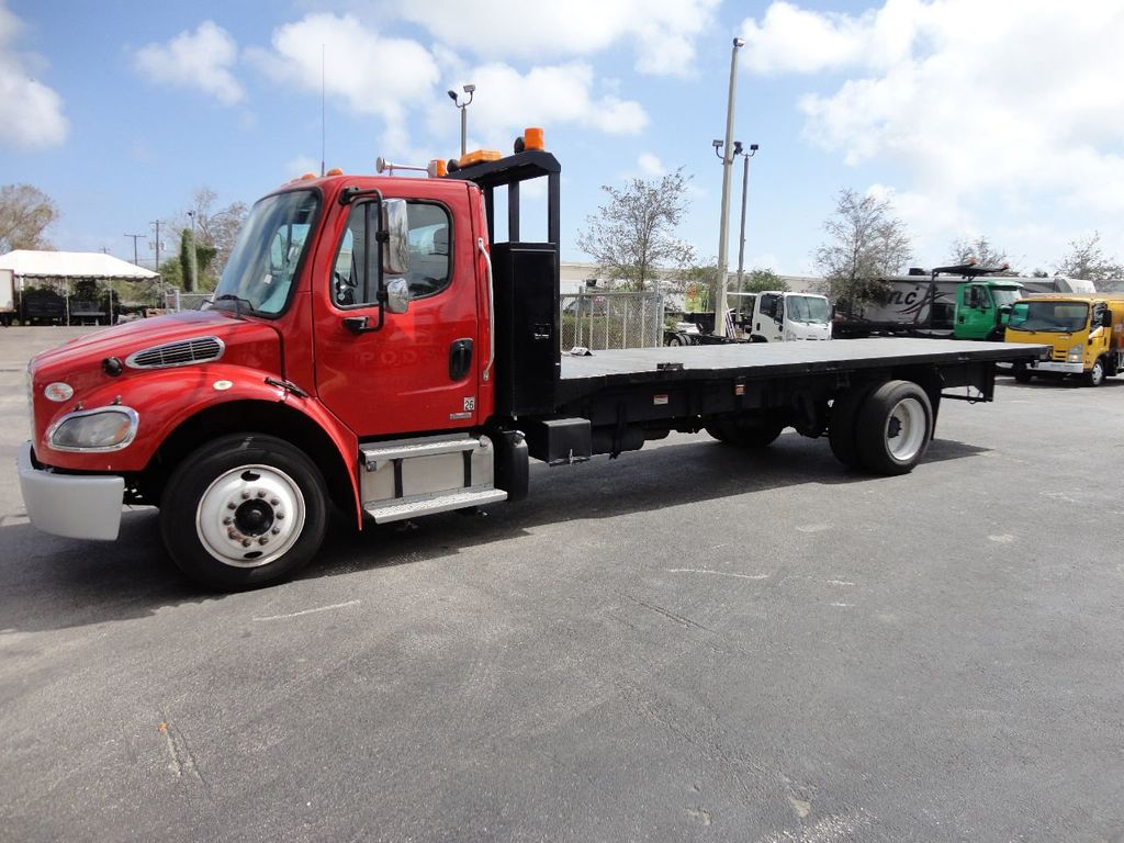 2011 Freightliner BUSINESS CLASS M2 106 AIR BRAKES. AIR SUSPENSION..22FT FLATBED.. - 17335326 - 1