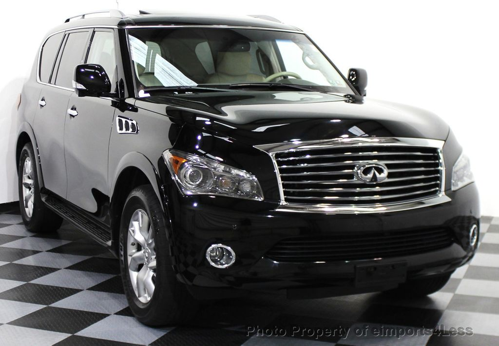 2011 used infiniti qx56 certified qx56 4wd 8 passenger suv dvd camera nav at eimports4less. Black Bedroom Furniture Sets. Home Design Ideas
