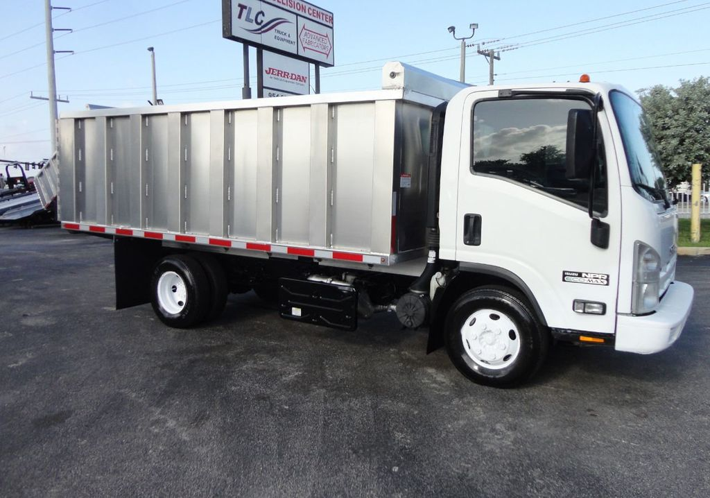 2011 Isuzu NPR 14FT ALUM TRASH DUMP TRUCK...NEW AD FAB DUMP BODY. - 17988648 - 0