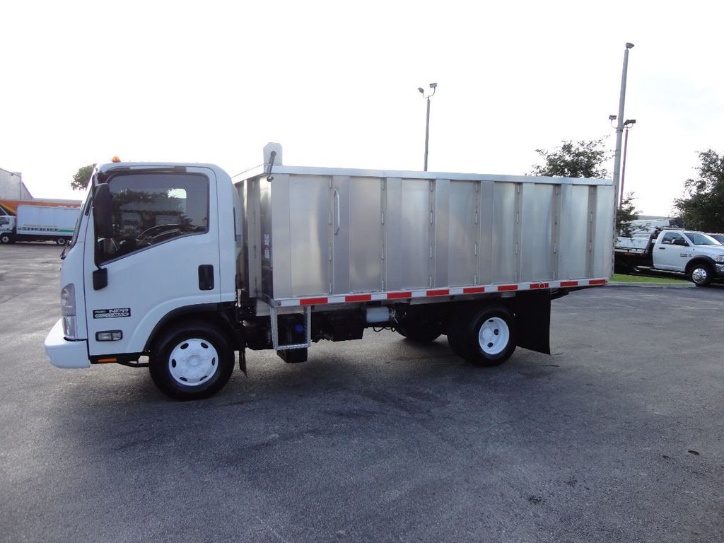 2011 Isuzu NPR 14FT ALUM TRASH DUMP TRUCK...NEW AD FAB DUMP BODY. - 17988648 - 10