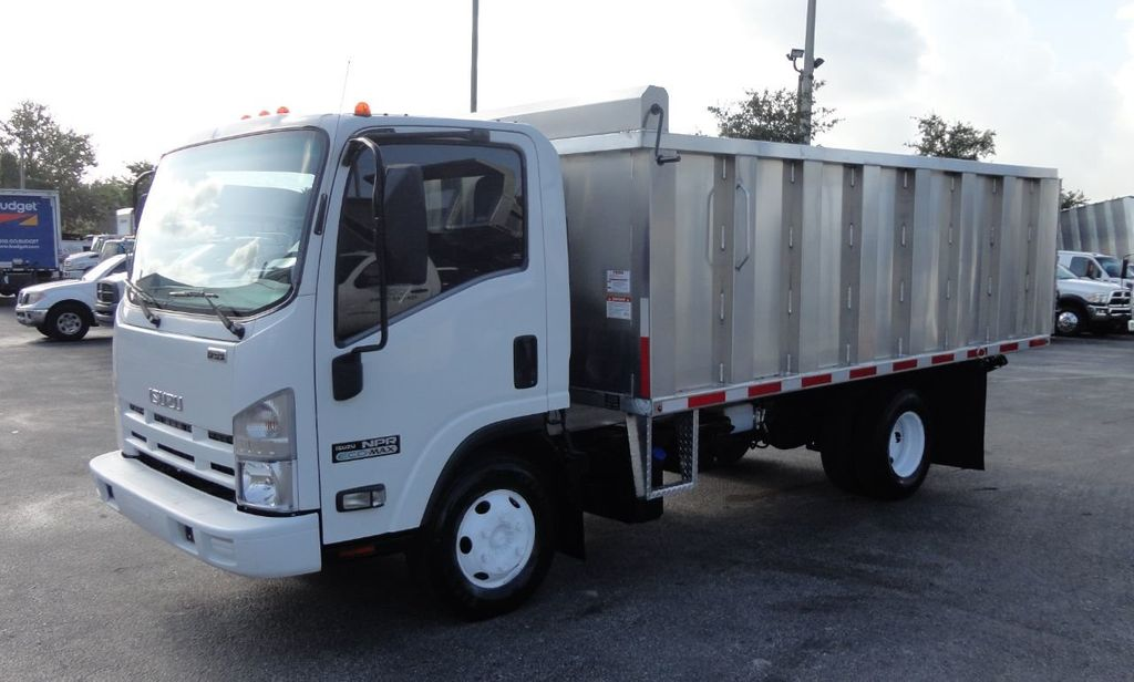 2011 Isuzu NPR 14FT ALUM TRASH DUMP TRUCK...NEW AD FAB DUMP BODY. - 17988648 - 1