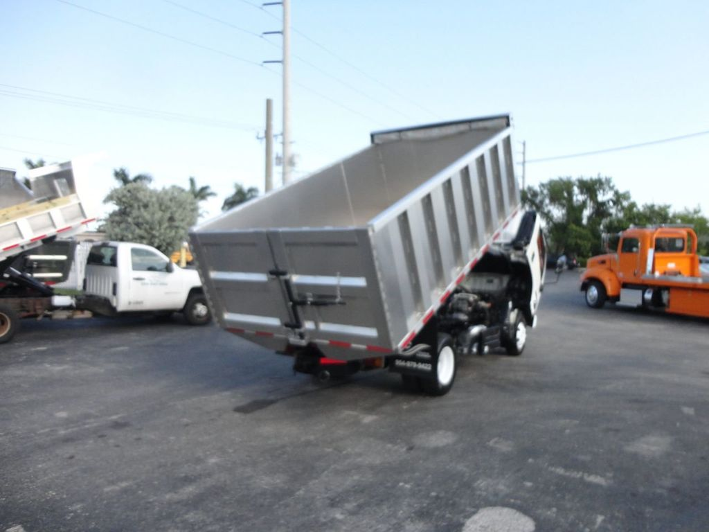 2011 Isuzu NPR 14FT ALUM TRASH DUMP TRUCK...NEW AD FAB DUMP BODY. - 17988648 - 21