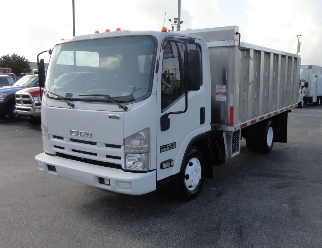 2011 Isuzu NPR 14FT ALUM TRASH DUMP TRUCK...NEW AD FAB DUMP BODY. - 17988648 - 2