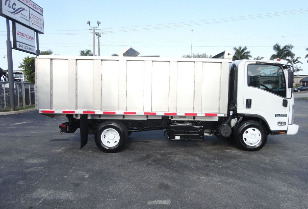 2011 Isuzu NPR 14FT ALUM TRASH DUMP TRUCK...NEW AD FAB DUMP BODY. - 17988648 - 5