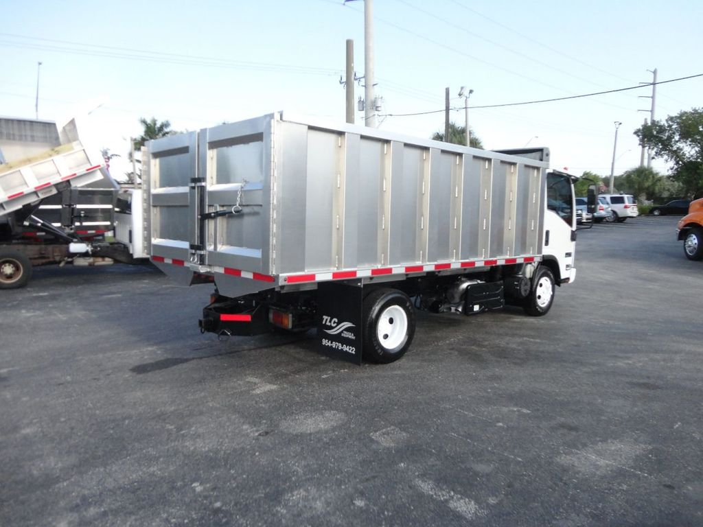 2011 Isuzu NPR 14FT ALUM TRASH DUMP TRUCK...NEW AD FAB DUMP BODY. - 17988648 - 6