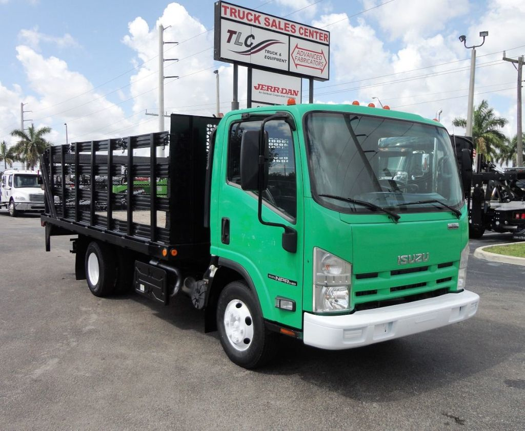 2011 Isuzu NPR HD 16FT FLATBED STAKE BED WITH LIFTGATE..STAKE TRUCK. - 18910798 - 0