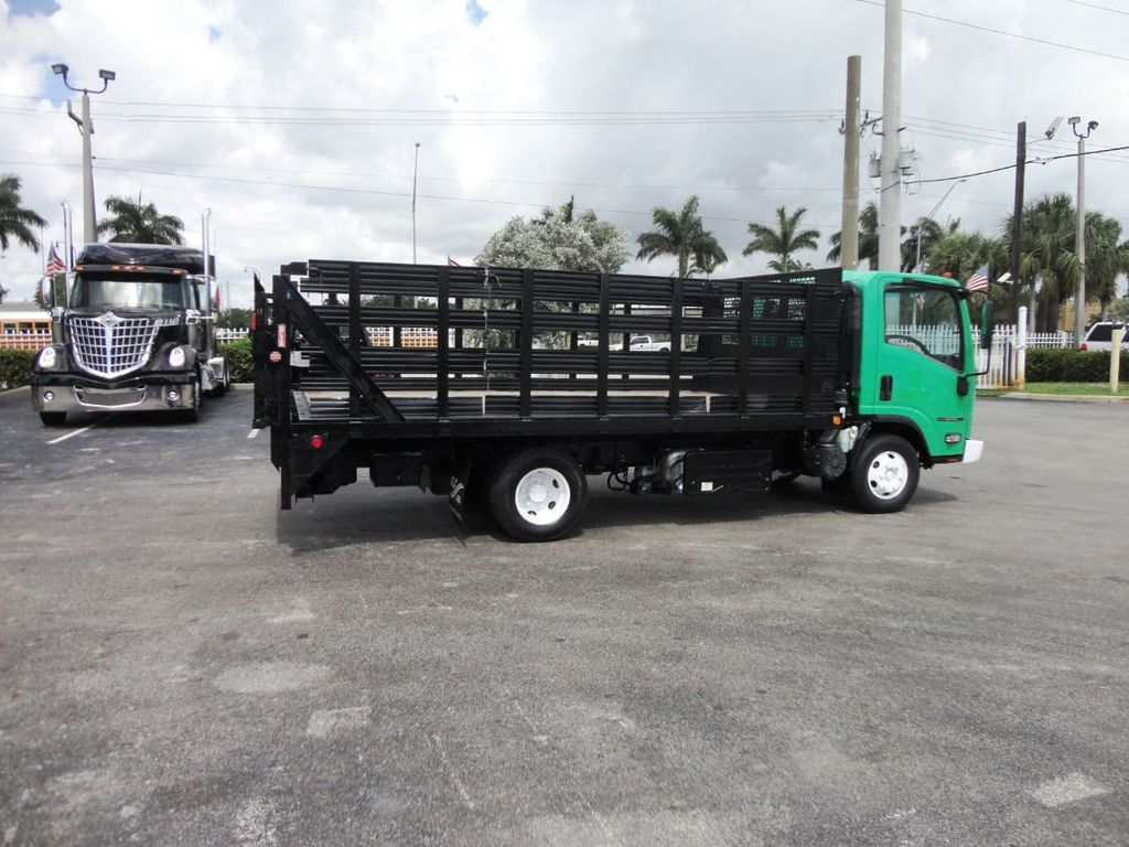 2011 Isuzu NPR HD 16FT FLATBED STAKE BED WITH LIFTGATE..STAKE TRUCK. - 18910798 - 9