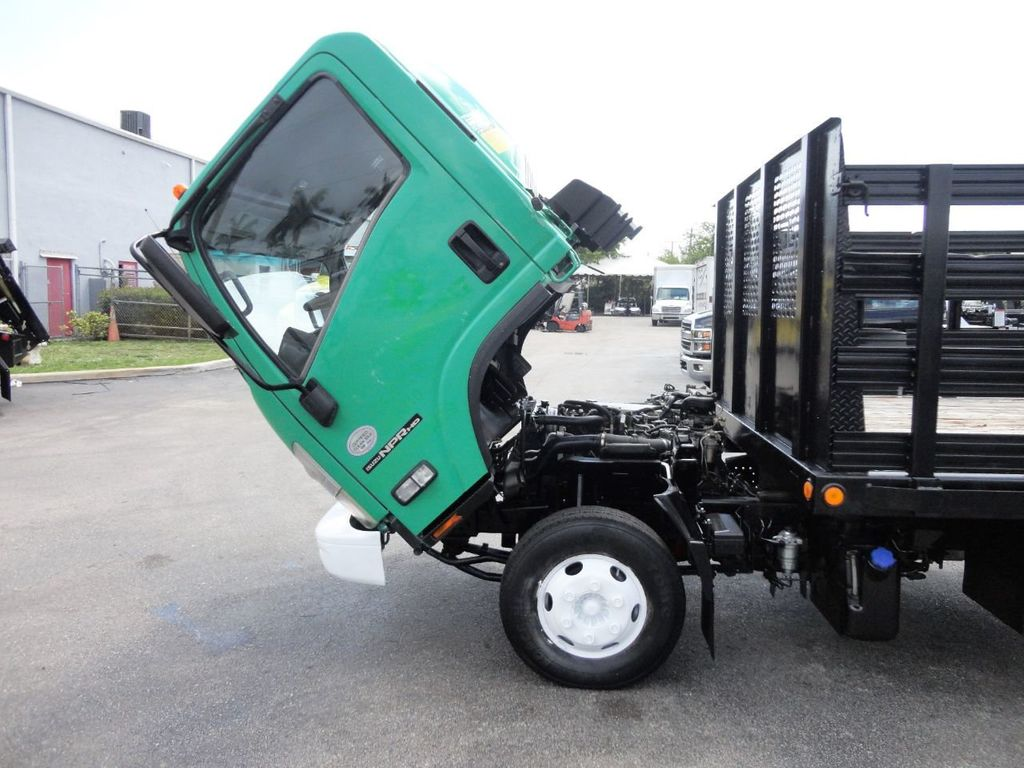 2011 Isuzu NPR HD 16FT FLATBED STAKE BED WITH LIFTGATE..STAKE TRUCK. - 18910798 - 13