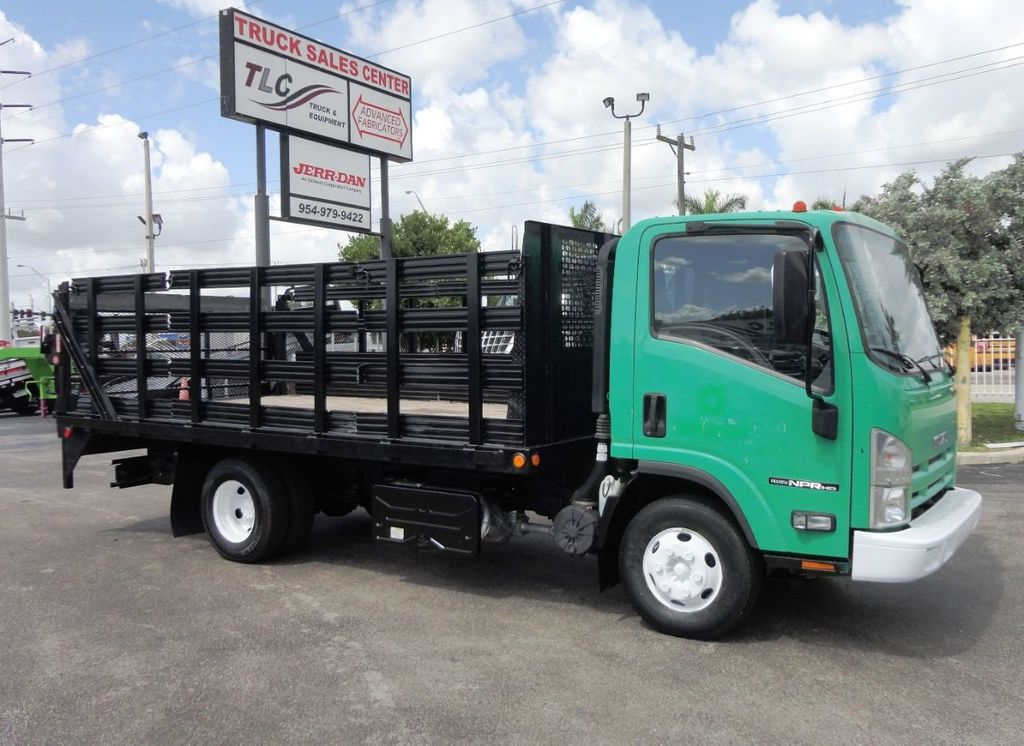 2011 Isuzu NPR HD 16FT FLATBED STAKE BED WITH LIFTGATE..STAKE TRUCK. - 18910798 - 1