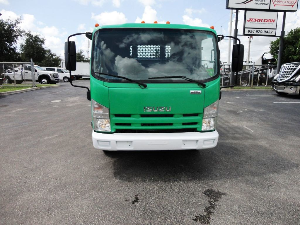 2011 Isuzu NPR HD 16FT FLATBED STAKE BED WITH LIFTGATE..STAKE TRUCK. - 18910798 - 2
