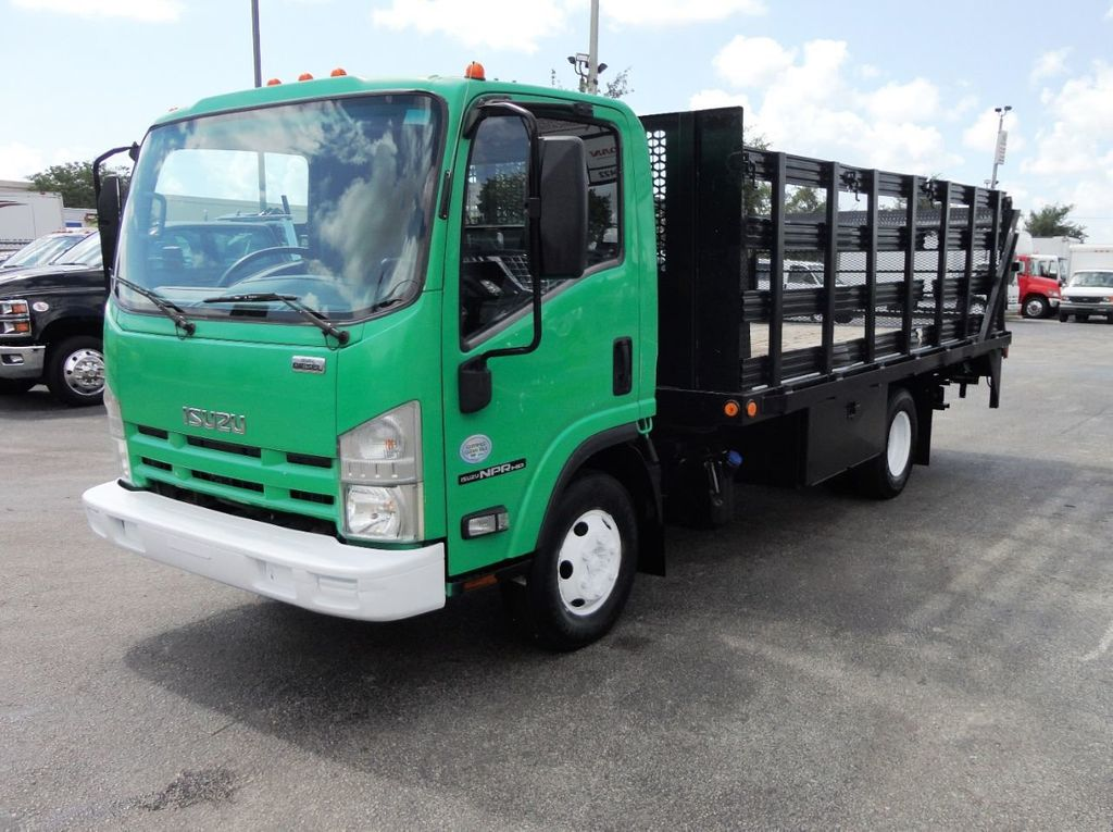 2011 Isuzu NPR HD 16FT FLATBED STAKE BED WITH LIFTGATE..STAKE TRUCK. - 18910798 - 3