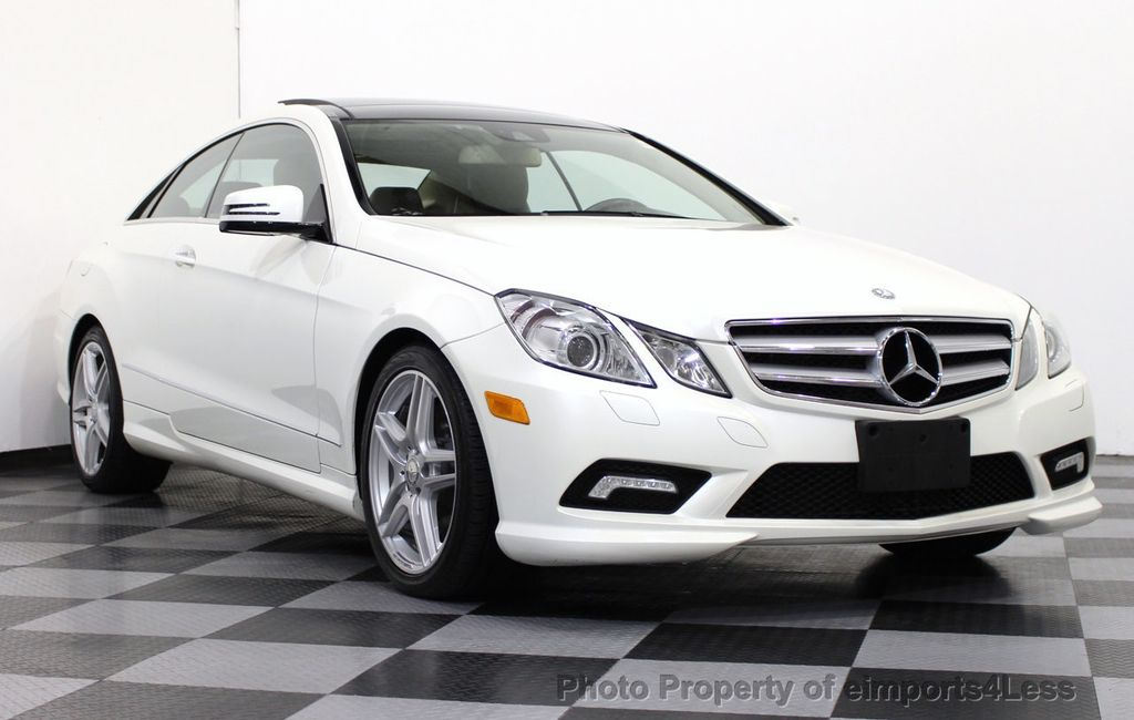 2011 Mercedes Benz E Class CERTIFIED E550 AMG SPORT COUPE Blind Spot /  NAVIGATION