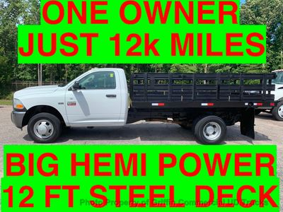 2011 RAM 3500HD 12 FOOT STAKE DRW JUST 12k MILES ONE OWNER HEMI POWERED! STEEL DECK! SUPER CLEAN