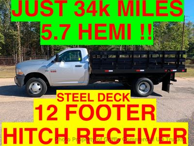 2011 RAM 3500HD JUST 34k MILES 12 FOOT STAKE BODY ONE OWNER SC TRUCK!! HEMI POWERED