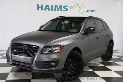 2012 used audi q5 custom matte gray wrap at haims motors serving fort lauderdale hollywood. Black Bedroom Furniture Sets. Home Design Ideas