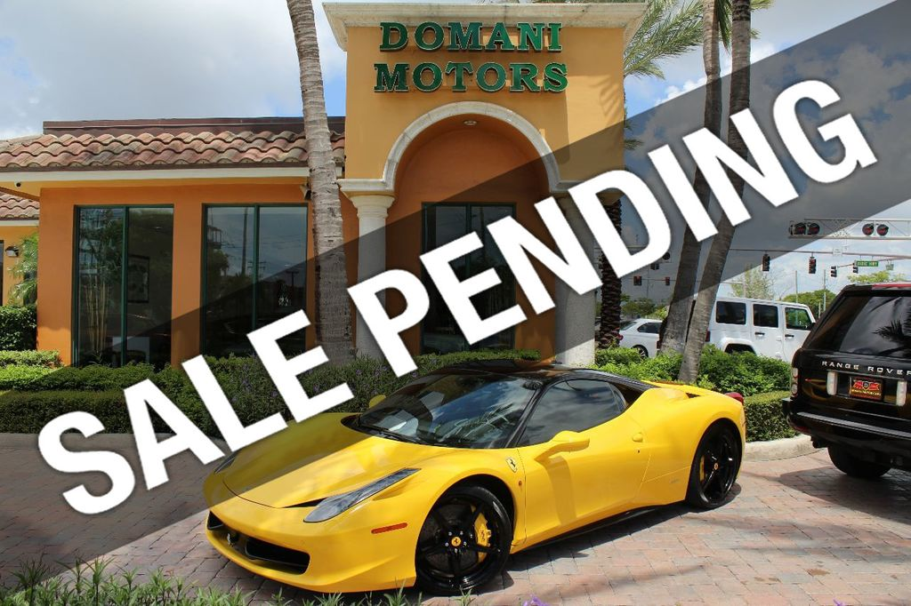Ferrari 428 Italia >> 2012 Used Ferrari 458 Italia ONLY 6k MILES ON THIS BEAUTIFULLY OPTIONED BUMBLE-BEE 458 COUPE at ...