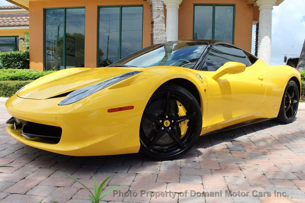 2012 Ferrari 458 Italia ONLY 8k MILES ON THIS BEAUTIFULLY OPTIONED BUMBLE-BEE 458 COUPE - 16638912 - 9