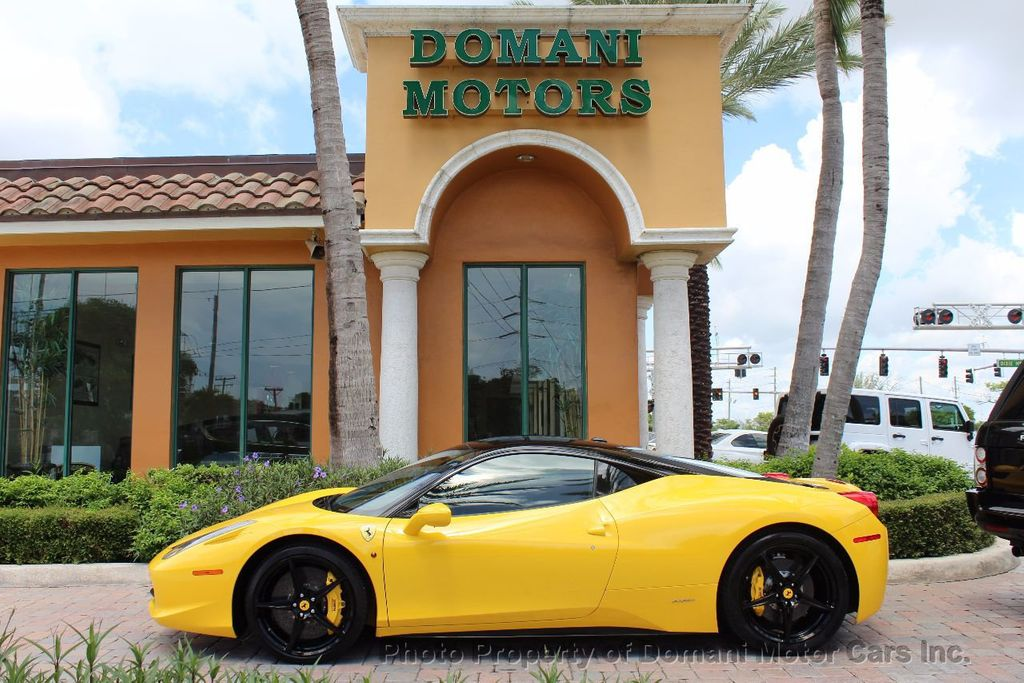 2012 Ferrari 458 Italia ONLY 8k MILES ON THIS BEAUTIFULLY OPTIONED BUMBLE-BEE 458 COUPE - 16638912 - 1