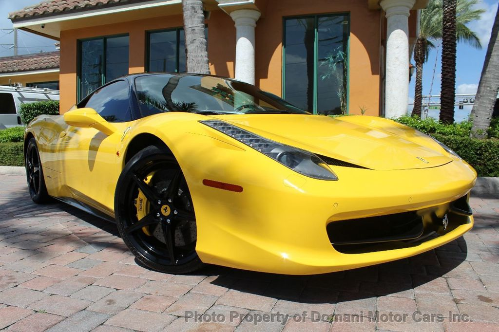 2012 Ferrari 458 Italia ONLY 8k MILES ON THIS BEAUTIFULLY OPTIONED BUMBLE-BEE 458 COUPE - 16638912 - 2