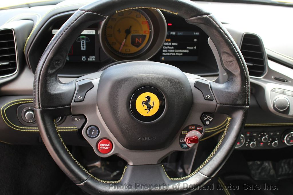 2012 Ferrari 458 Italia ONLY 8k MILES ON THIS BEAUTIFULLY OPTIONED BUMBLE-BEE 458 COUPE - 16638912 - 44