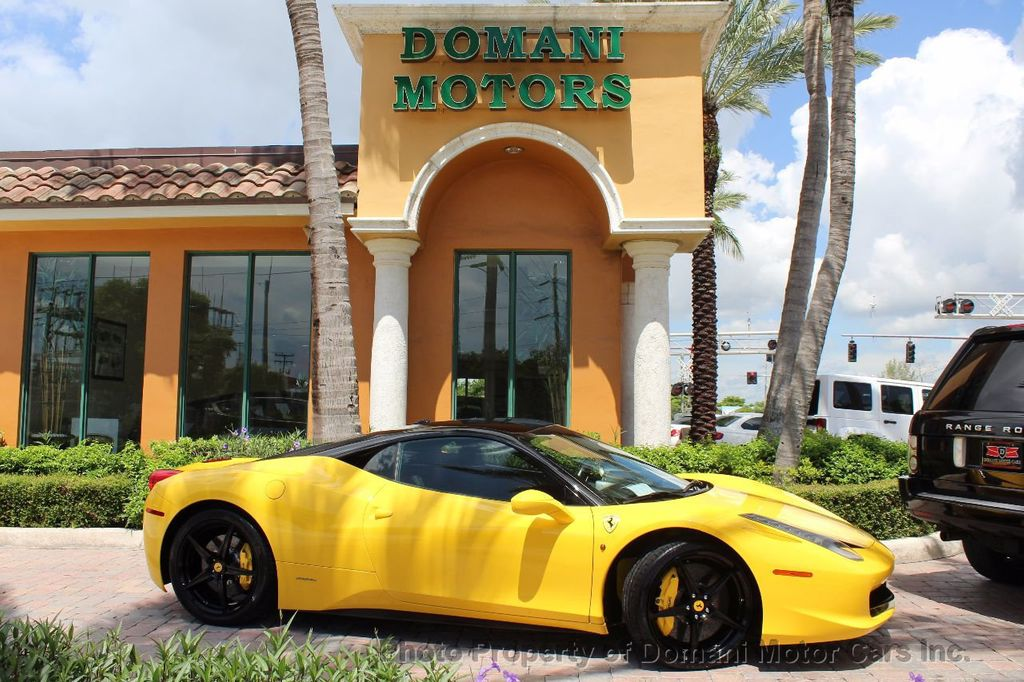 2012 Ferrari 458 Italia ONLY 8k MILES ON THIS BEAUTIFULLY OPTIONED BUMBLE-BEE 458 COUPE - 16638912 - 4