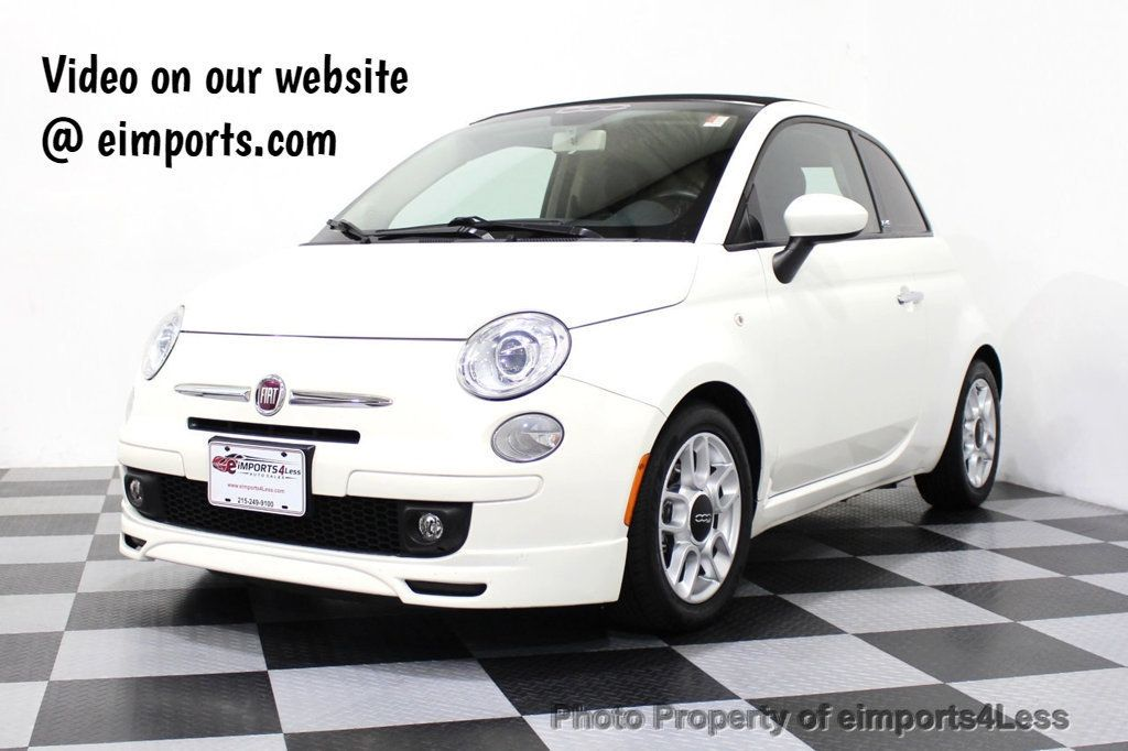 2012 FIAT 500 CERTIFIED 500C POP CONVERTIBLE - 16630358 - 0