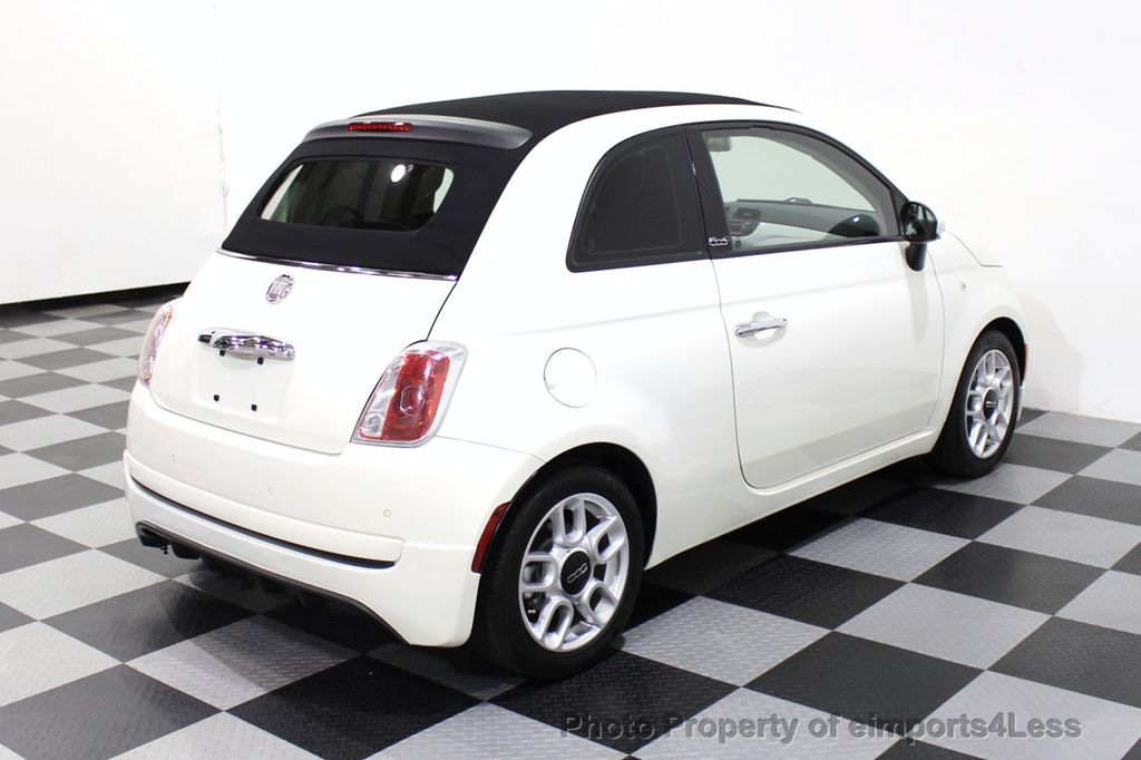 2012 FIAT 500 CERTIFIED 500C POP CONVERTIBLE - 16630358 - 17