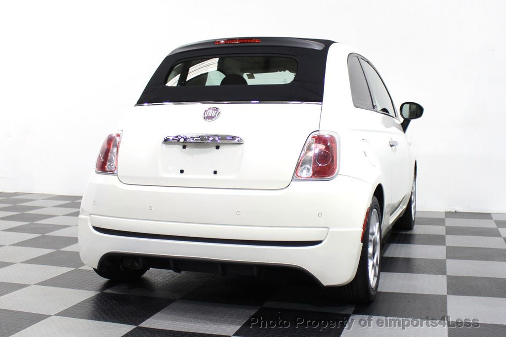 2012 FIAT 500 CERTIFIED 500C POP CONVERTIBLE - 16630358 - 31