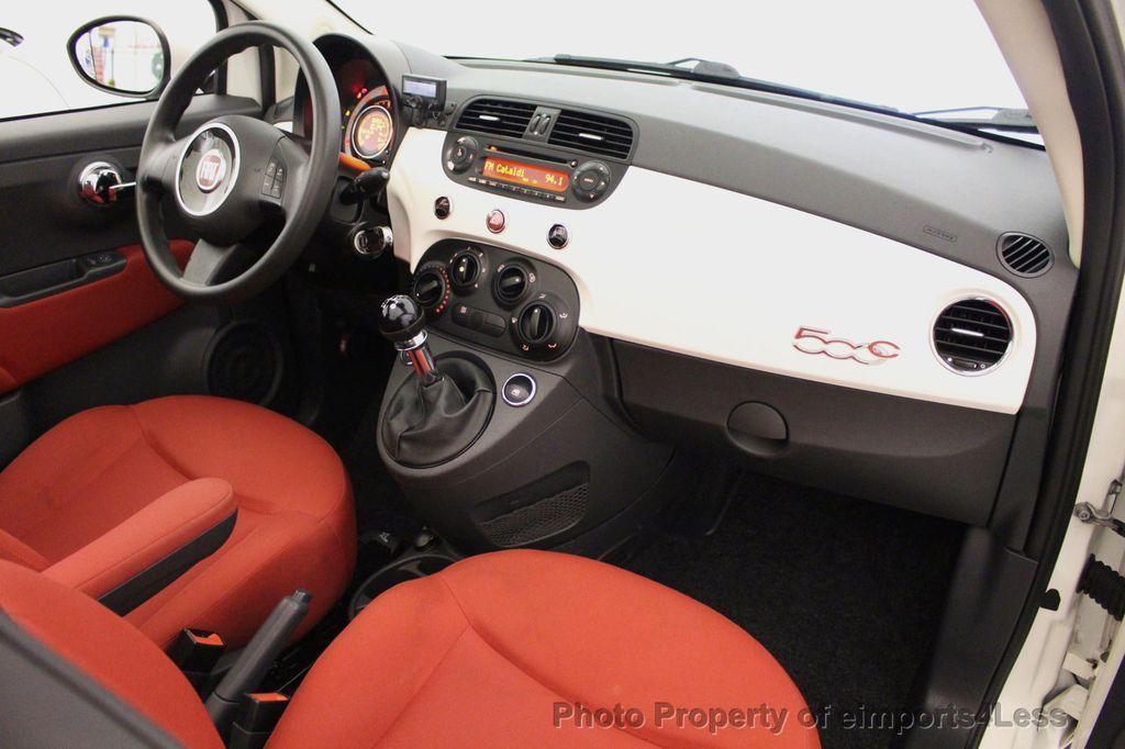 2012 FIAT 500 CERTIFIED 500C POP CONVERTIBLE - 16630358 - 34