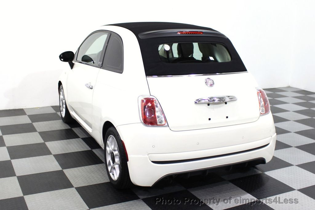 2012 FIAT 500 CERTIFIED 500C POP CONVERTIBLE - 16630358 - 46