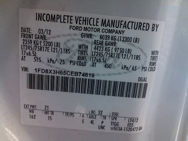 2012 Ford F350 Mechanics Service Truck 4x4 - 15792691 - 30