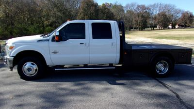 2012 Ford Super Duty F-350 DRW 4WD CREW CAB LARIAT FLATBED Truck