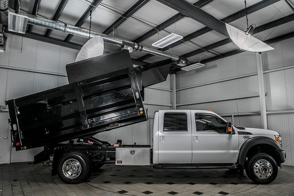 2012 Ford Super Duty F-550 DRW F550 CREW 4X4 * 6.7 POWERSTROKE * 12' LANDSCAPE DUMP * 1 OWNER - 17325906 - 2