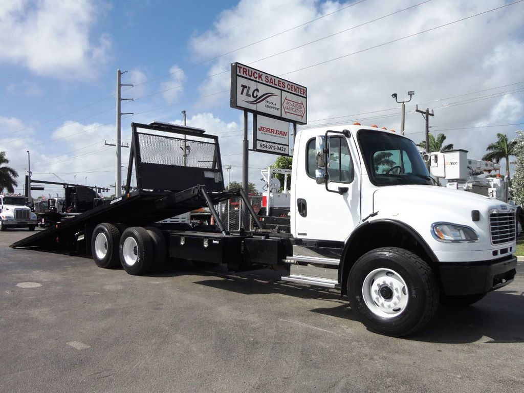 2012 Freightliner BUSINESS CLASS M2 28FT 15 TON ROLLBACK INDUSTRIAL JERRDAN.. TANDEM AXLE.. - 19177978 - 0